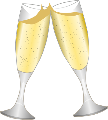 Champagne toast clipart jpg.