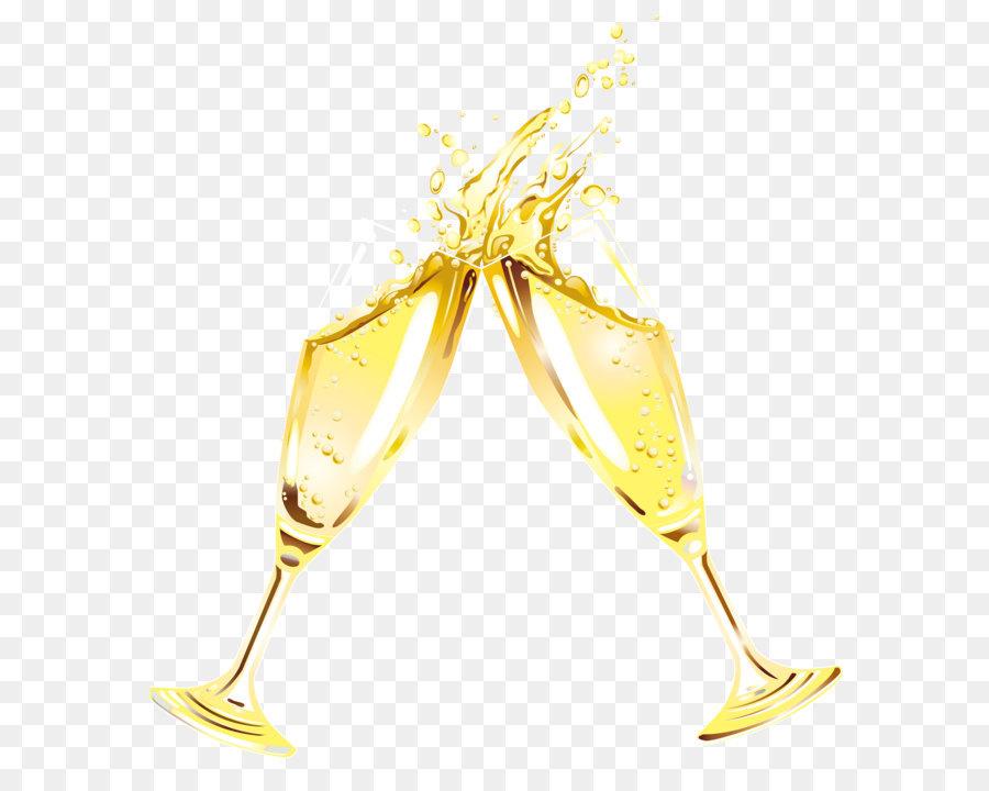 Champagner Glas Wein Clip art.