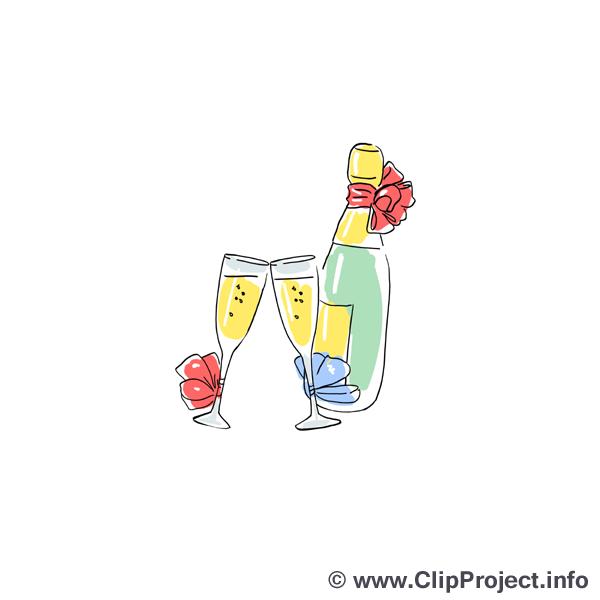 Champagner Clipart Bilder kostenlos.