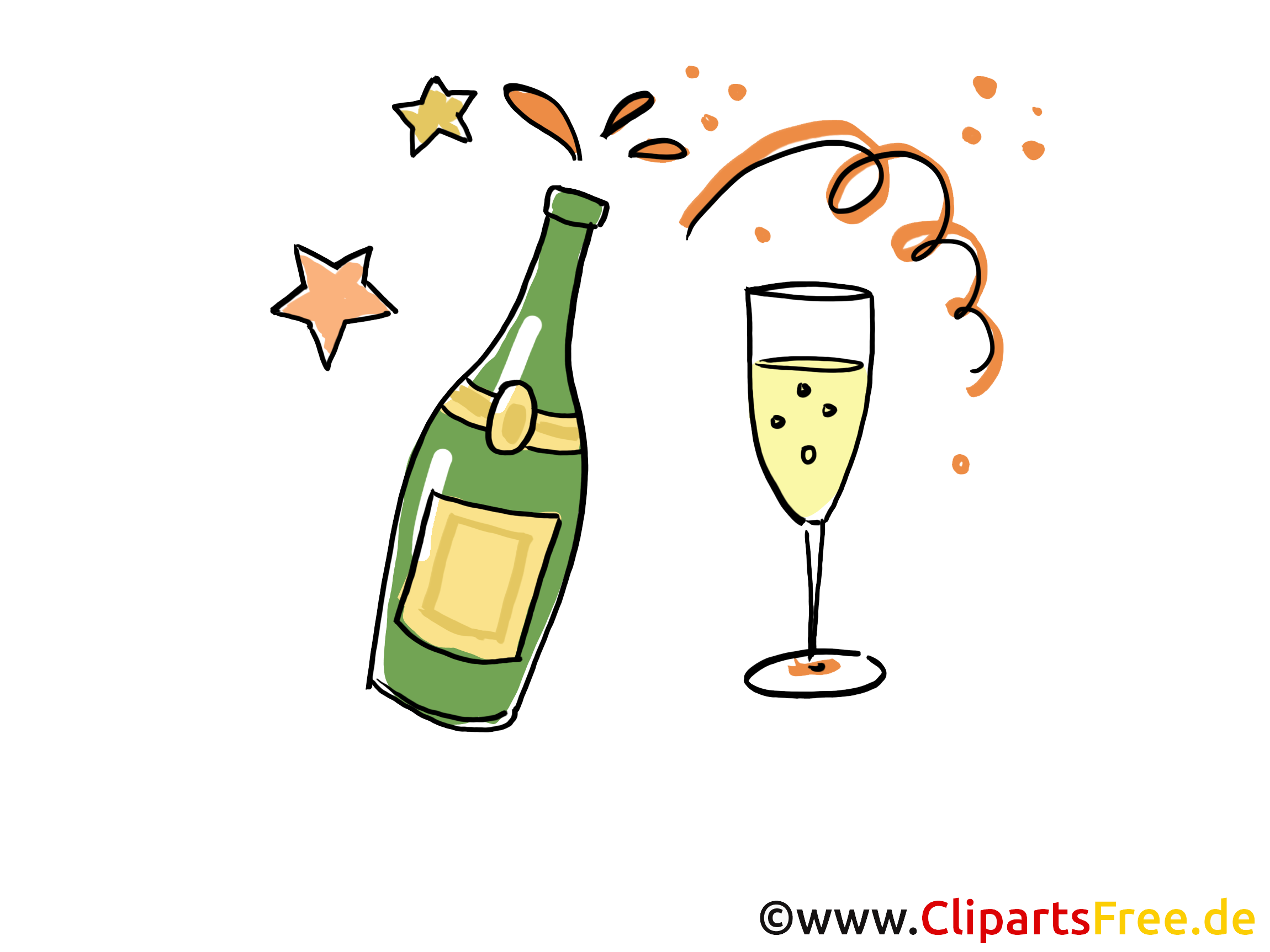 Free Champagne Clipart Pictures.