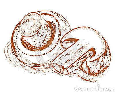 Champignons Stock Illustrations.