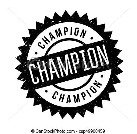 Champion rubber stamp.