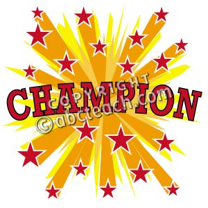 Clip Art: Starburst Champion.