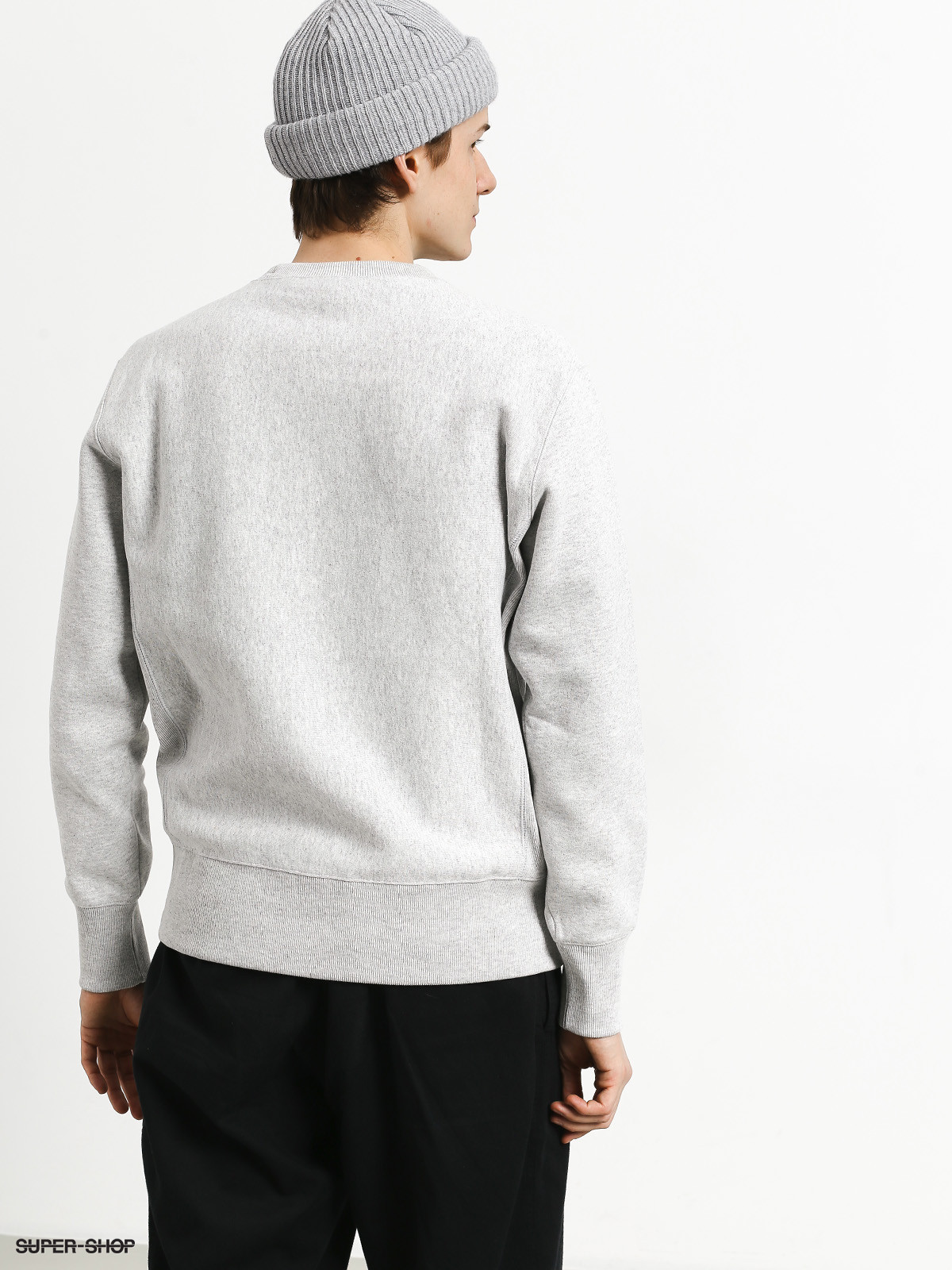 Champion Premium Reverse Weave Big Logo Crewneck Sweatshirt (loxgm).
