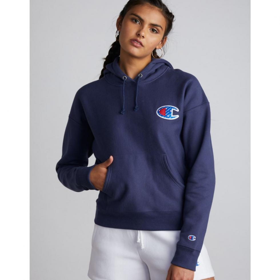 Champion Life® Reverse Weave® Pullover Hood, Sublimated Big C Logo Oxford  Grey, Womens Grey Hoodies & Sweatshirts ⋆ Milly Welby.