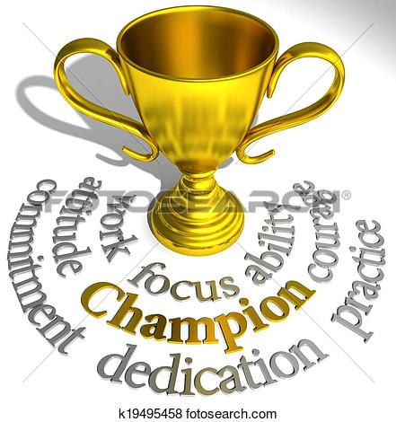 Champion trophy clipart.