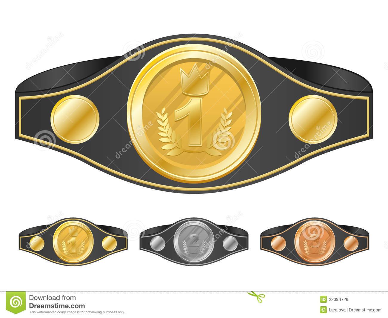 Championship belt clipart.