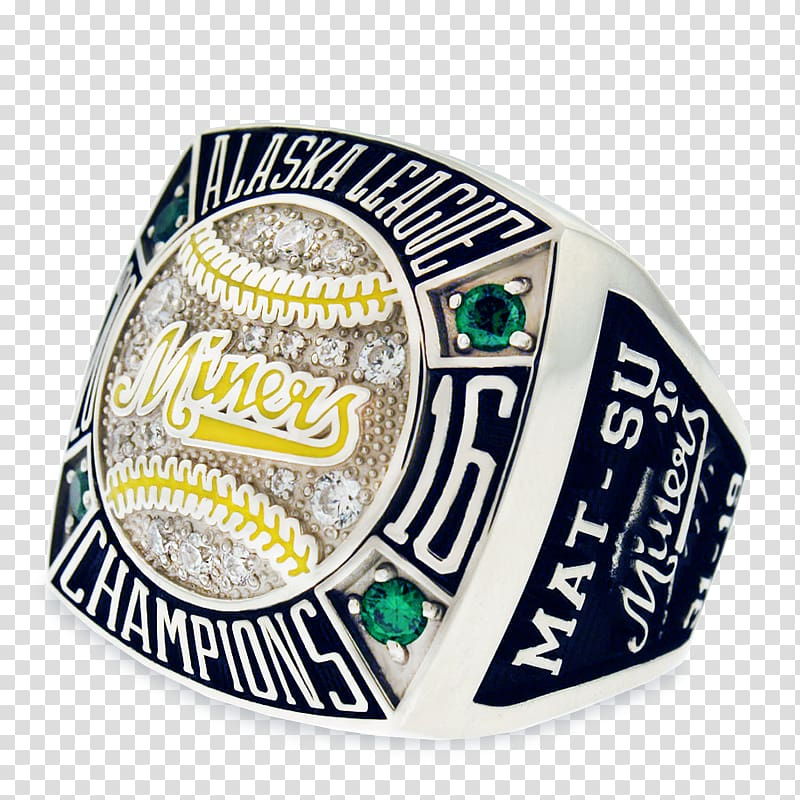 Label United States Championship ring, cup ring transparent.