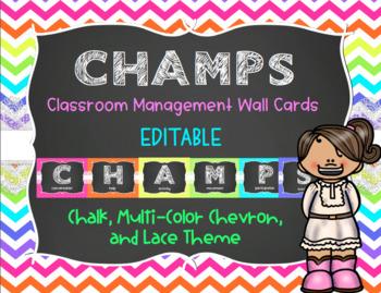 CHAMPS Behavior Management System Posters *EDITABLE* Multi.