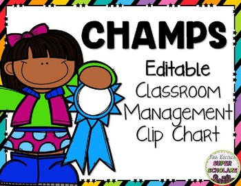 Editable Champs Posters & Worksheets.