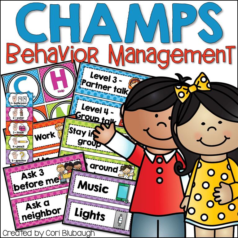 CHAMPS Classroom Behavior Management Signs.
