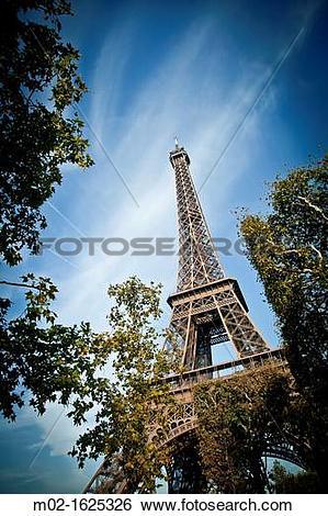 Stock Images of Champ de Mars, park around of Eiffel Tower, Paris.