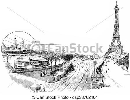 Stock Illustration of Gare du Champ de Mars or Champ de Mars.