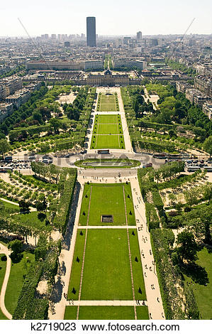 Stock Photo of Aerial view on the Champs de Mars k2719023.