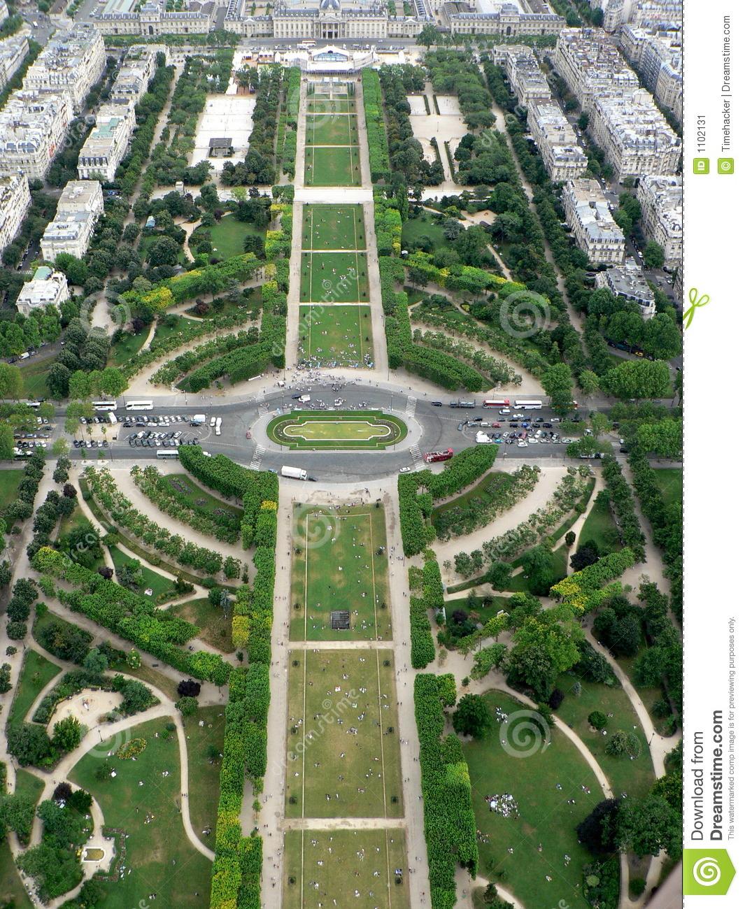 Garden Champ De Mars Stock Image.