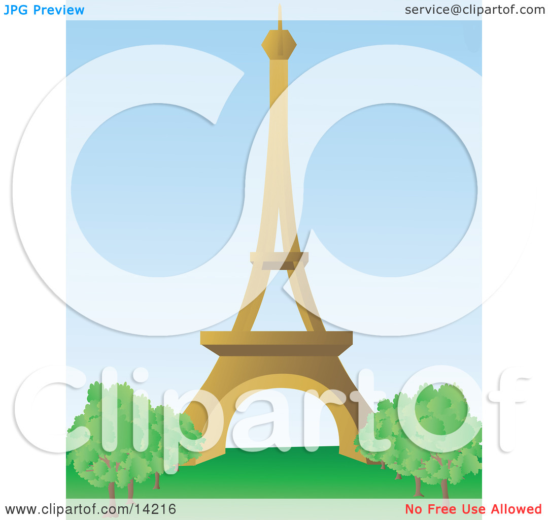 The Beautiful Eiffel Tower on the Champ de Mars in Paris, France.