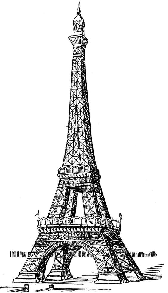 The Eiffel Tower is an iron lattice tower located on the Champ de.