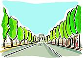 Champs Elysees Clip Art.
