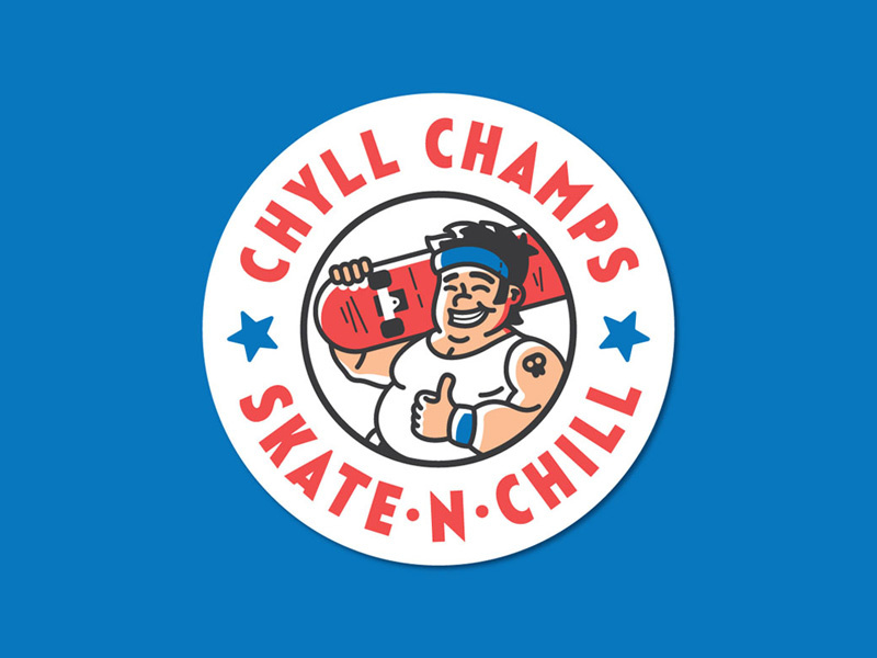 Chyll Champs logo by Vlad Martin on Dribbble.