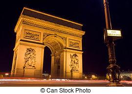Stock Photo of Arc de Triomphe.