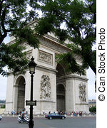 Stock Photos of Arc de Triomphe in Paris, France csp0387093.