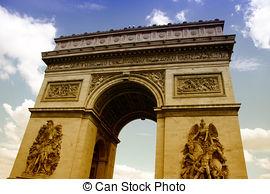 Stock Image of Arc de Triomphe.