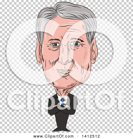 Clipart of a Sketched Caricature of Philip Anthony Hammond PC MP.