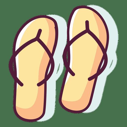 Flip flops cartoon.