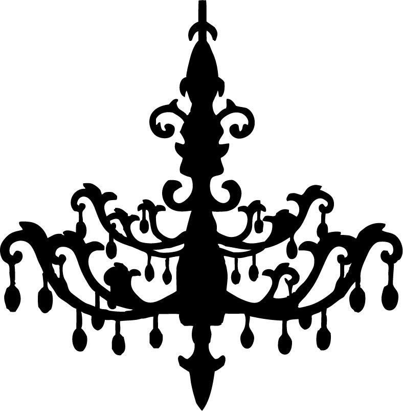 Chandelier SVG file, by OMC Designer Alissa Mortensen.