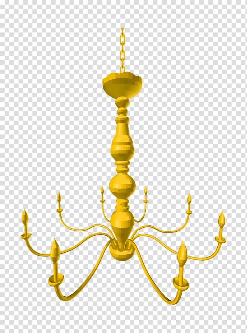 Chandelier , gold Chandelier transparent background PNG.