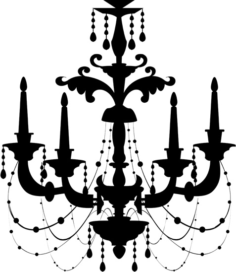 Ornate chandelier vector silhouette set Free vector in Encapsulated.