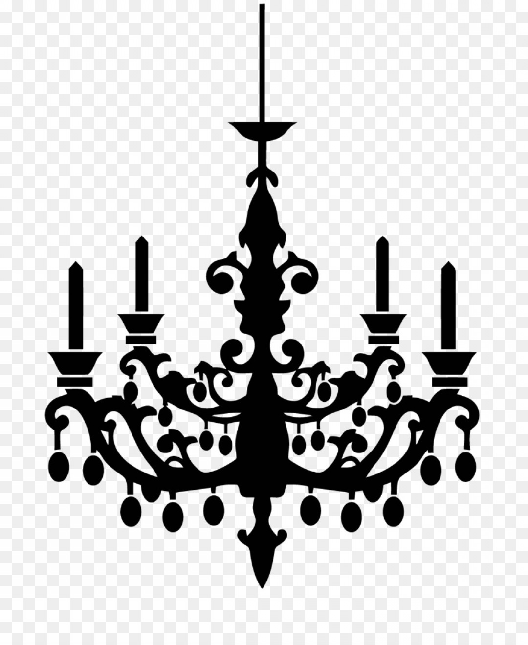 Chandelier Silhouette Vector Images Of.