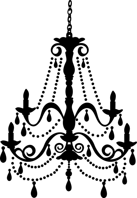 Black chandelier clip art.