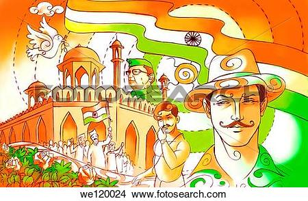 Stock Photo of Indian freedom fighters Sardar Bhagat Singh.