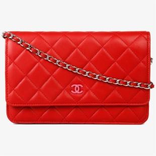 Handbag Leather Chanel Red Bag Free Transparent Image.