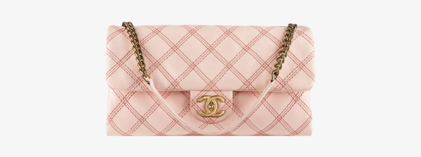 Chanel Pink Irridescent Stitch Flap Bag.