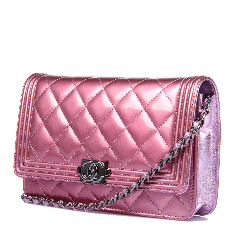 Chanel Handbag Pink Leather.