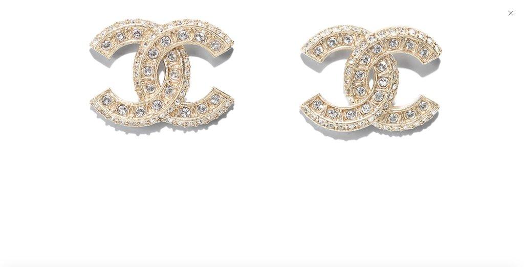 Chanel CC logo earring studs.