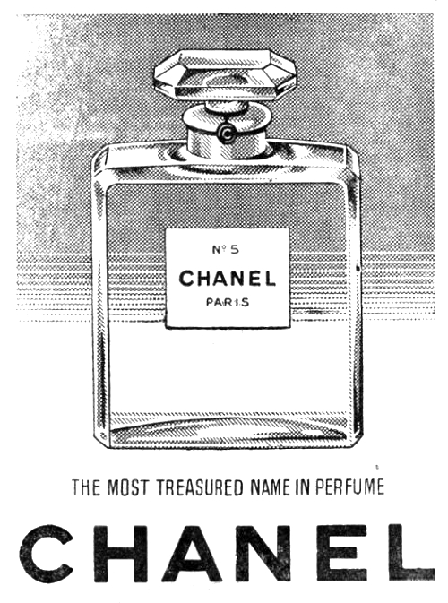 Sweetly Scrapped: Vintage CHANEL Ad Clipart And Perfume Bottle.