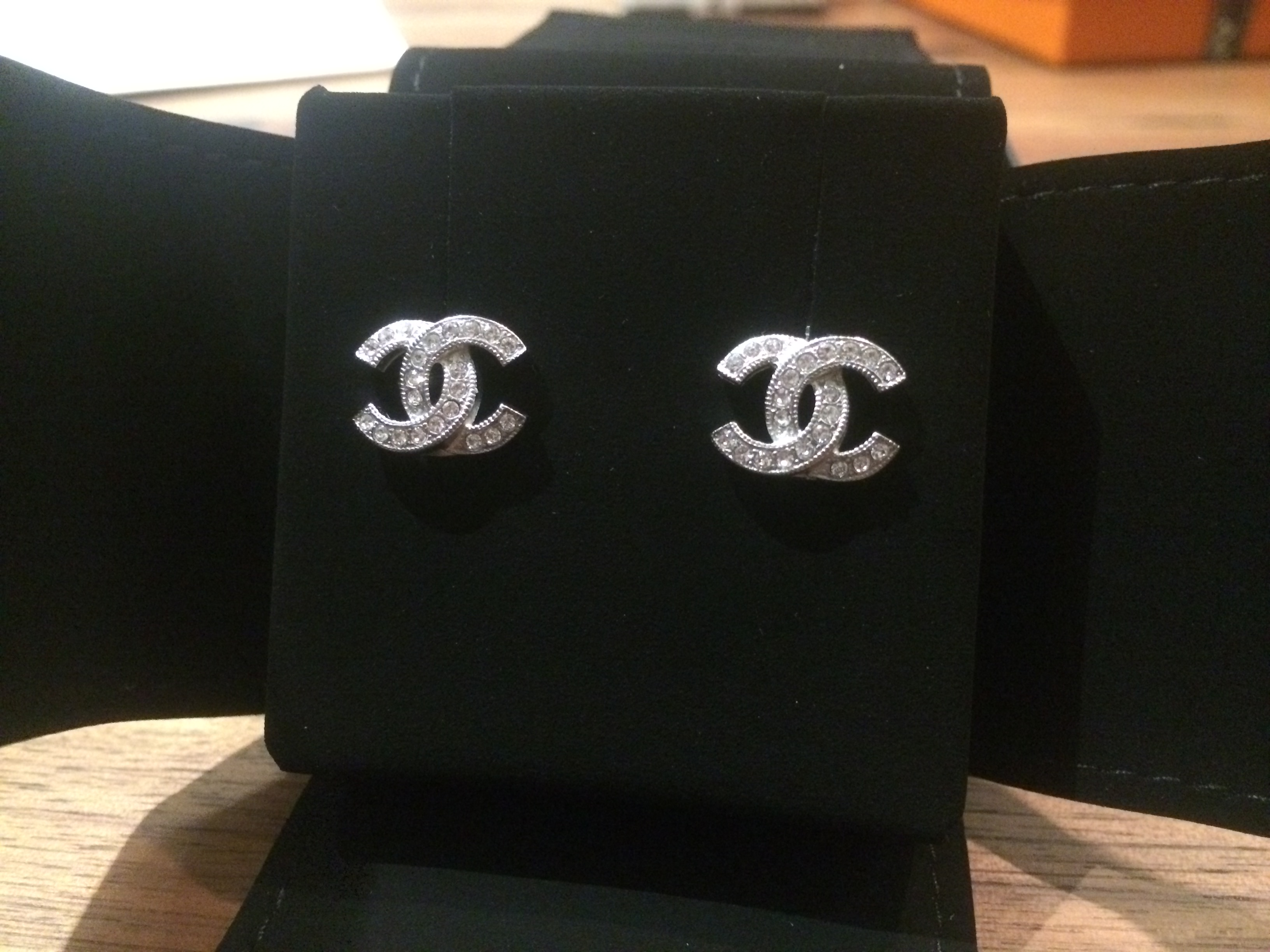 SOLD] FOR SALE: BNIB DOUBLE C EMBLEM CHANEL EARRINGS.
