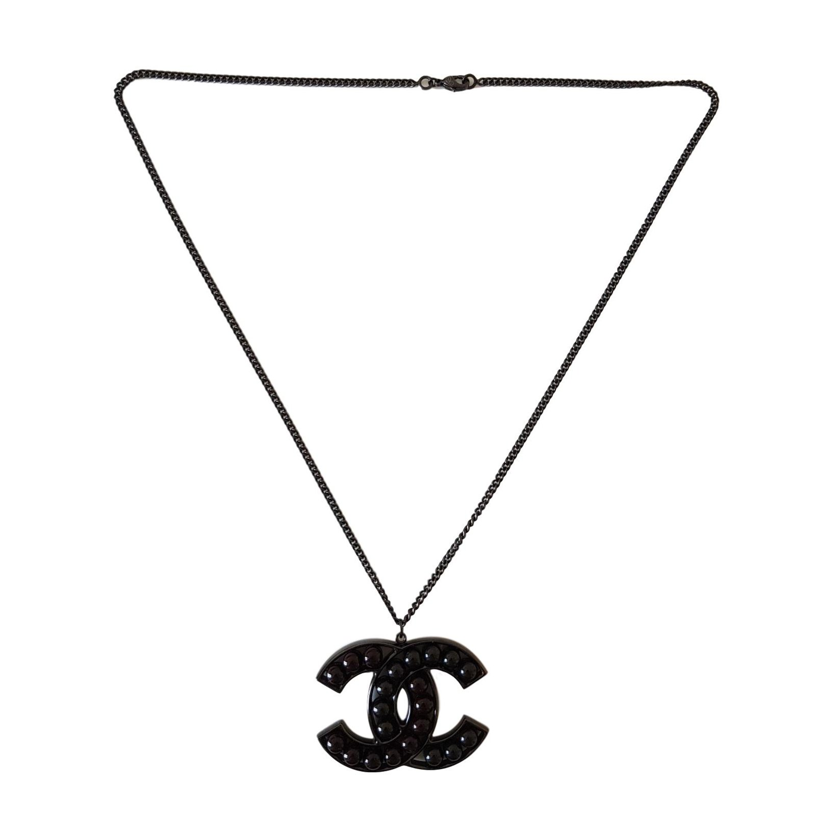 Chanel Necklaces Necklaces Metal Black ref.77127.