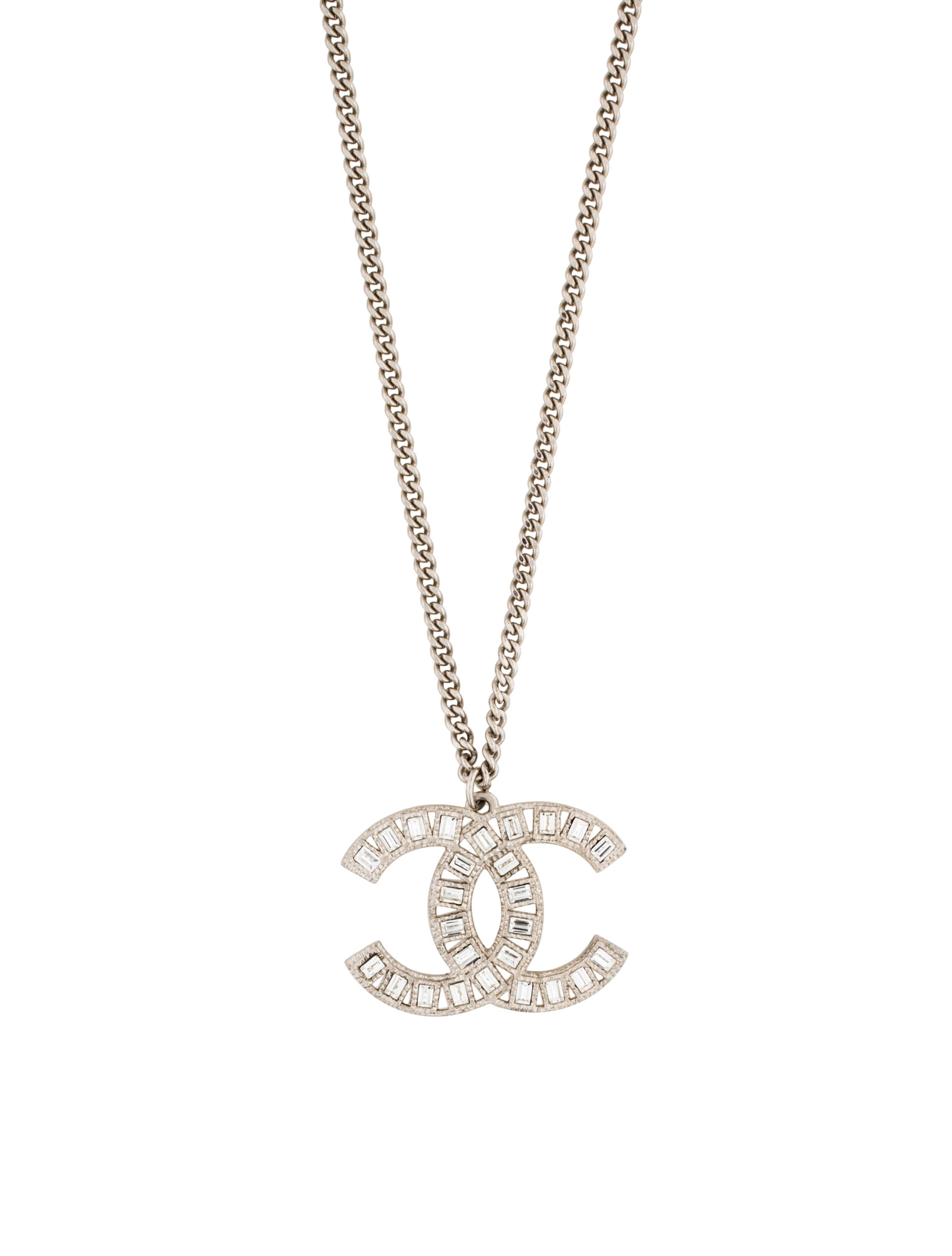 Chanel Crystal CC Pendant Necklace in 2019.