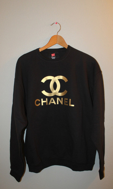 sweater, fashion, black, gold, sweatshirt, pullover, shirt.