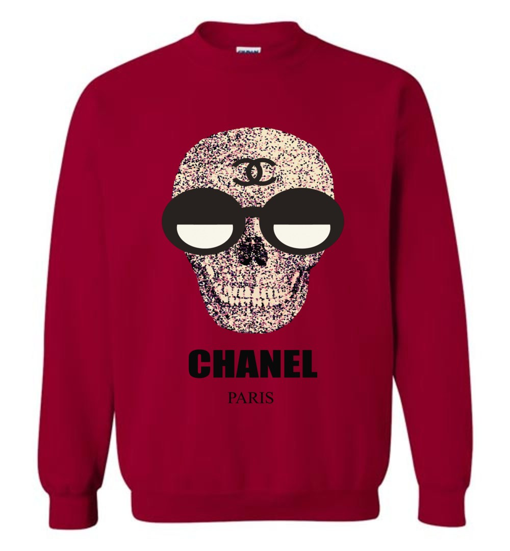 Chanel Fashion Skull Logo Sweatshirt.