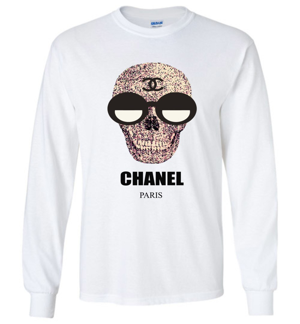 Chanel Fashion Skull Logo Long Sleeve T.