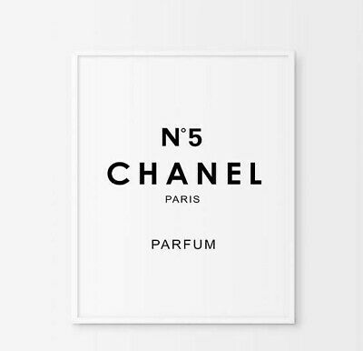 CHANEL NO 5 print, Coco Chanel print, Chanel home decor.