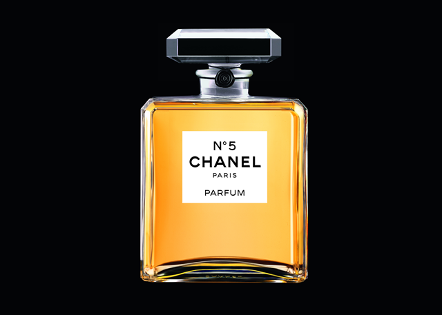 From brand to icon: Chanel No.5 on display in Paris.