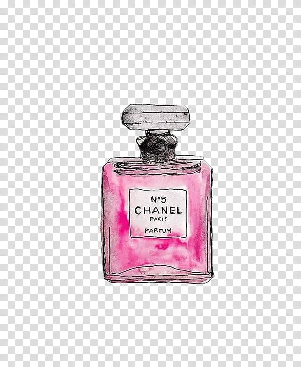 Chanel N\'5 perfume bottle, Chanel No. 5 Coco Mademoiselle.
