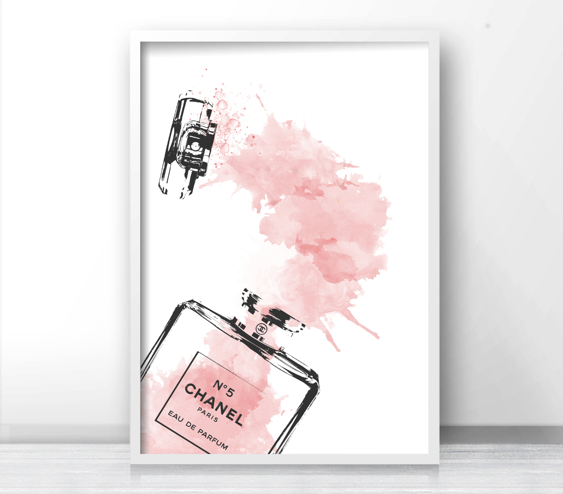 Inspired Coco Chanel Logo, Bottle Perfume Chanel, Fashion Print, Typography  Gallery Wall Art, Print Bottle, Fashion Poster. 91 sold by Sunshine Store.