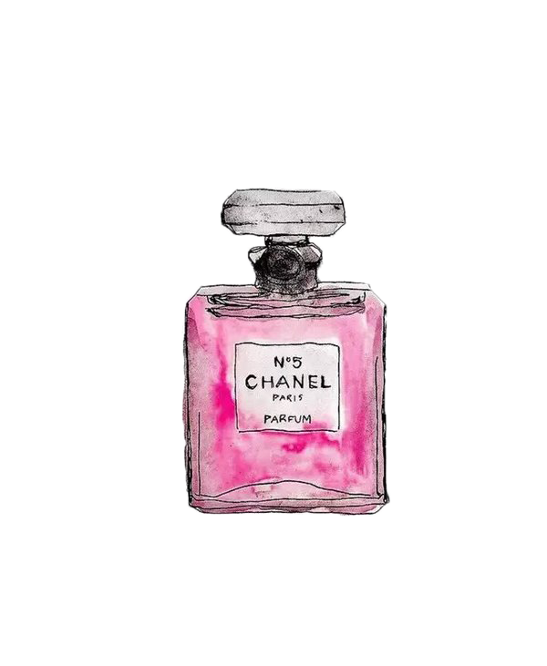 Download Free png Pink Mademoiselle No. Painted Perfume Coco Chanel.